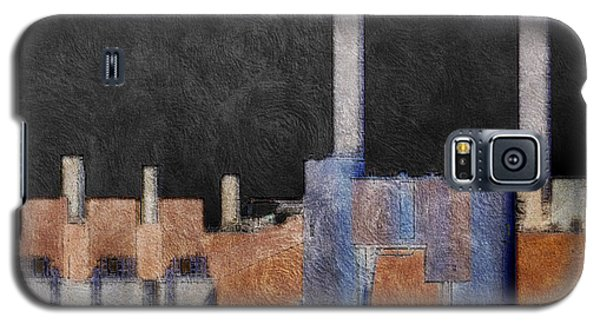 Galaxy S5 Case featuring the photograph The Black Night Of Industry by MJ Olsen