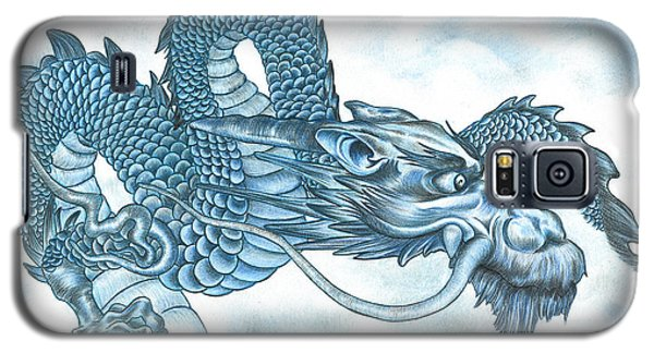 The Blue Dragon Galaxy S5 Case by Troy Levesque