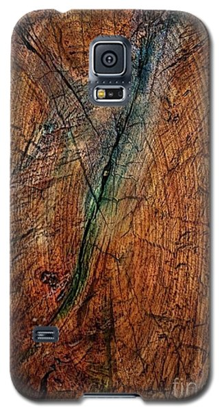 Galaxy S5 Case featuring the digital art The Blue - Green Line by Delona Seserman