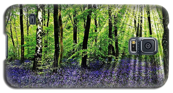 Galaxy S5 Case featuring the mixed media The Bluebell Woods by Morag Bates
