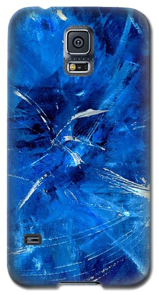 Galaxy S5 Case featuring the painting The Blues by Carolyn Repka