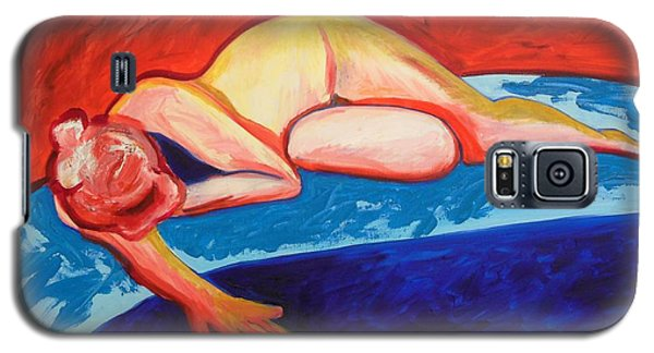 The Blues In Red Rhapsody Galaxy S5 Case by Esther Newman-Cohen