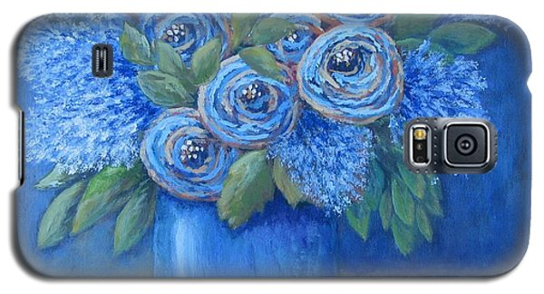 Galaxy S5 Case featuring the painting The Blues by Suzanne Theis