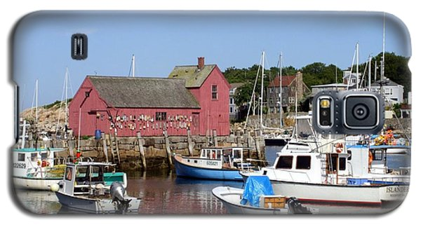 The Boat Yard At Rockport Galaxy S5 Case by Mary Lou Chmura