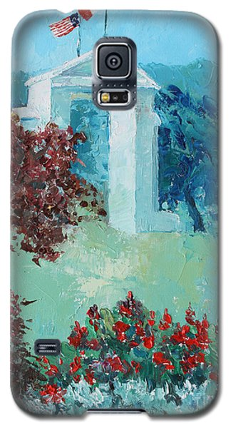 Galaxy S5 Case featuring the painting The Border Line by Marta Styk
