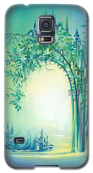 Galaxy S5 Case featuring the painting The Boundary Bush by Anna Ewa Miarczynska