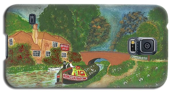 Galaxy S5 Case featuring the painting The Bridge Inn by John Williams