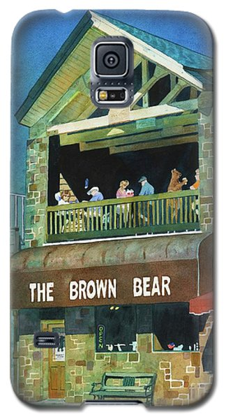 Galaxy S5 Case featuring the painting The Brown Bear by LeAnne Sowa