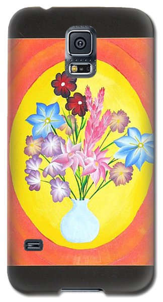 Galaxy S5 Case featuring the painting The Bud Vase by Ron Davidson