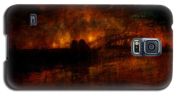Galaxy S5 Case featuring the digital art The Burning Of Sydney by Kim Gauge