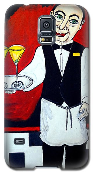 Galaxy S5 Case featuring the painting The Butler  by Nora Shepley