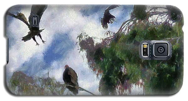 Galaxy S5 Case featuring the digital art The Buzzard Tree by Rhonda Strickland