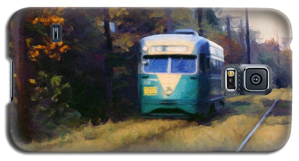 Galaxy S5 Case featuring the painting The Cabin John Trolley by Spyder Webb