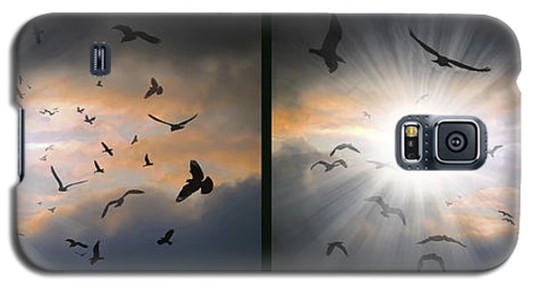 The Call - The Caw - Gently Cross Your Eyes And Focus On The Middle Image Galaxy S5 Case by Brian Wallace