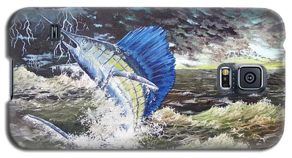 The Calm The Crazy The Sailfish Galaxy S5 Case by Kevin F Heuman