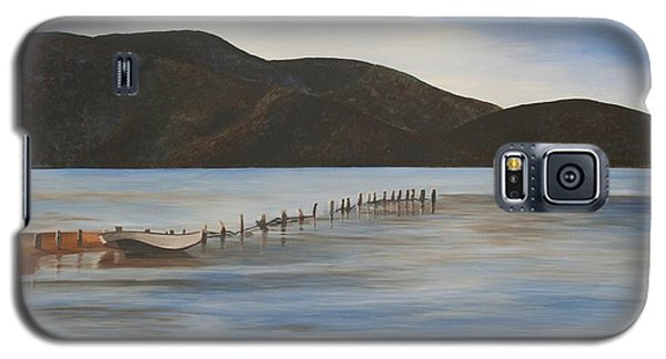 Galaxy S5 Case featuring the painting The Calm Water Of Akyaka by Tracey Harrington-Simpson