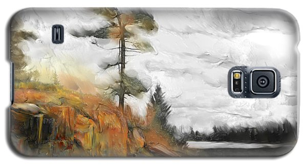 Galaxy S5 Case featuring the painting The Canadian Wild by Bob Salo