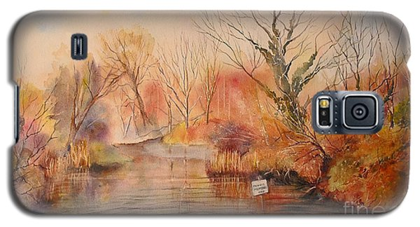 Galaxy S5 Case featuring the painting The Canal West Hythe by Beatrice Cloake