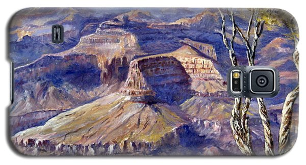 Galaxy S5 Case featuring the painting The Canyon by Lee Piper