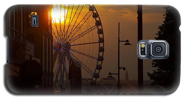 Galaxy S5 Case featuring the photograph The Capital Wheel In National Harbor by James Granberry
