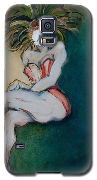 The Carnival Queen - Masked Woman Galaxy S5 Case by Carolyn Weltman