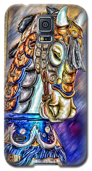 Galaxy S5 Case featuring the painting The Carousel Horse by Mary Almond
