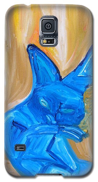 Galaxy S5 Case featuring the painting The Cat Camelion  by Shea Holliman