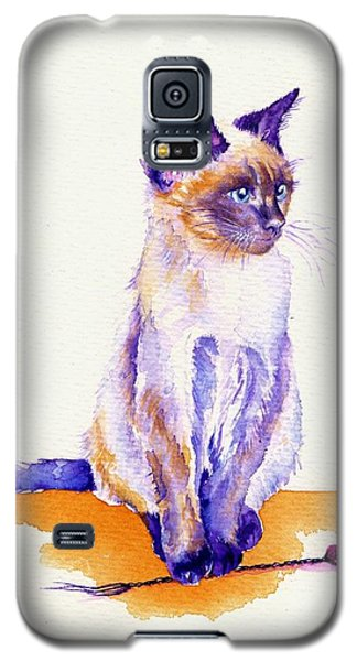 The Catmint Mouse Hunter Galaxy S5 Case by Debra Hall