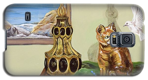 Galaxy S5 Case featuring the painting The Cat's Meow by Susan Culver