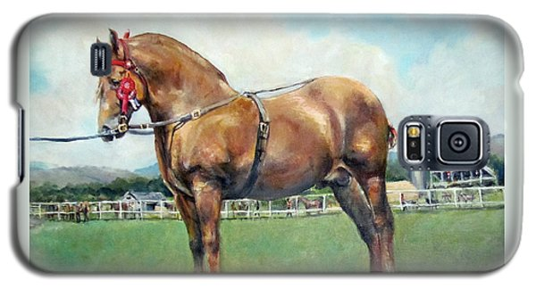 Galaxy S5 Case featuring the painting The Champ by Donna Tucker