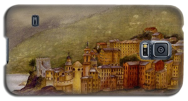 Galaxy S5 Case featuring the painting The Charming Town Of Camogli Italy by Nan Wright