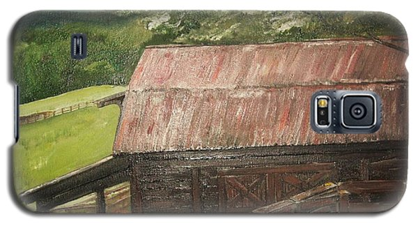 Galaxy S5 Case featuring the painting The Cherrys Barn by Jan Dappen