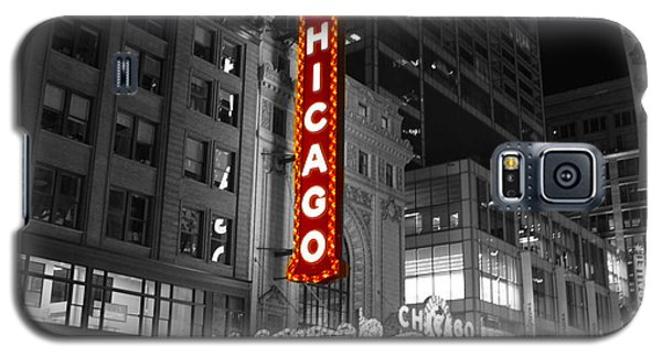 Galaxy S5 Case featuring the photograph The Chicago Theatre by Jerome Lynch
