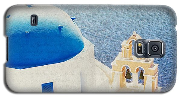 Galaxy S5 Case featuring the photograph The Church - Santorini by Lisa Parrish