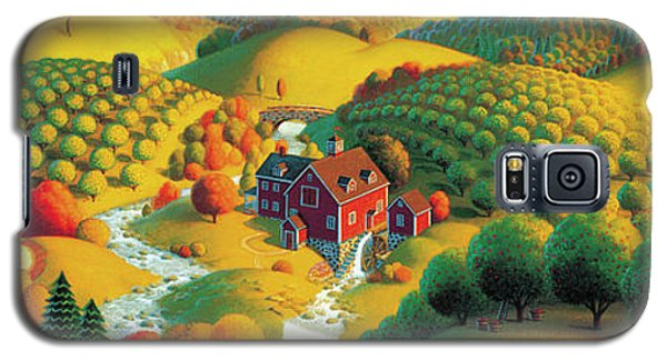 Galaxy S5 Case featuring the painting The Cider Mill by Robin Moline