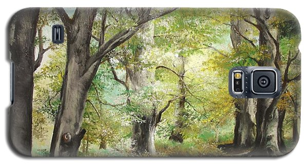 Galaxy S5 Case featuring the painting The Clearing by Sorin Apostolescu