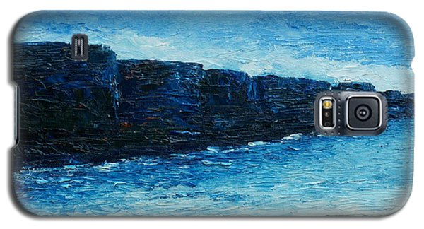 Galaxy S5 Case featuring the painting The Cliffs by Conor Murphy