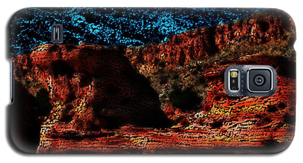 Galaxy S5 Case featuring the digital art The Cliffs by Kathleen Stephens