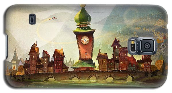 Fairy Galaxy S5 Case - The Clock Tower by Kristina Vardazaryan