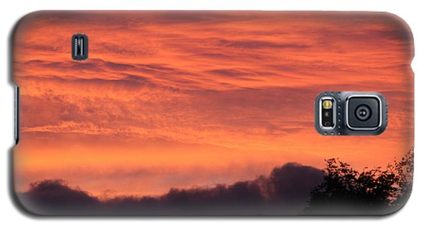 Galaxy S5 Case featuring the photograph The Clouds On Fire by Patricia Hiltz