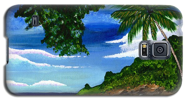 Galaxy S5 Case featuring the painting The Coconut Tree by Laura Forde