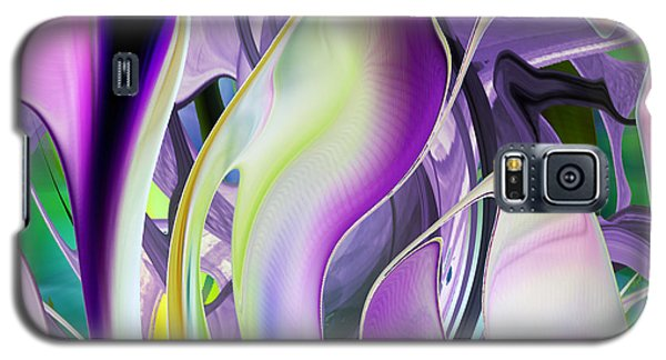 The Color Of Iris - Digital Abstract Art Galaxy S5 Case
