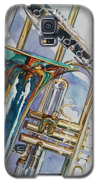 Trumpet Galaxy S5 Case - The Color Of Music by Jenny Armitage