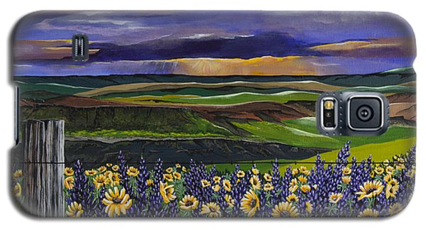 Galaxy S5 Case featuring the painting The Colors Of The Plateau by Jennifer Lake