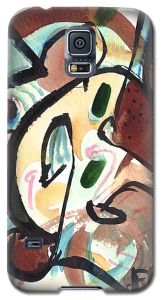 Galaxy S5 Case featuring the painting The Conversation 2 by Stephen Lucas