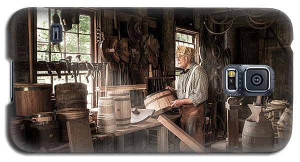 Galaxy S5 Case featuring the photograph The Cooper - 19th Century Artisan In His Workshop  by Gary Heller