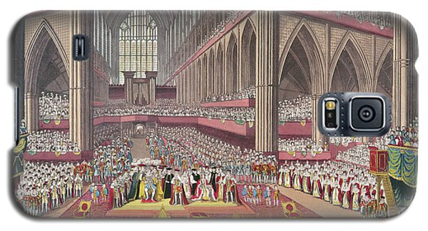 The Coronation Of King William Iv And Queen Adelaide, 1831 Colour Litho Galaxy S5 Case by English School