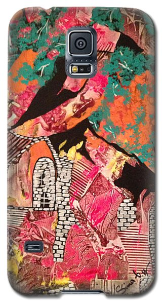 Galaxy S5 Case featuring the painting The Cottage At The Farm by Sima Amid Wewetzer