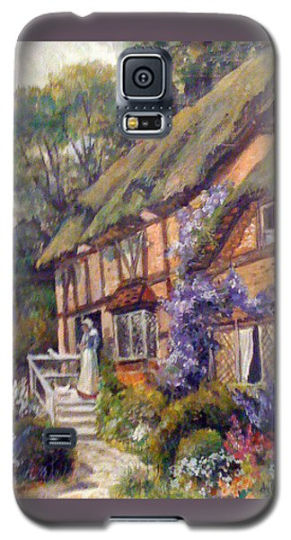 Galaxy S5 Case featuring the painting The Cottage by Donna Tucker