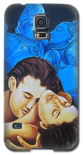 Galaxy S5 Case featuring the painting The Course Of Love by Ragunath Venkatraman